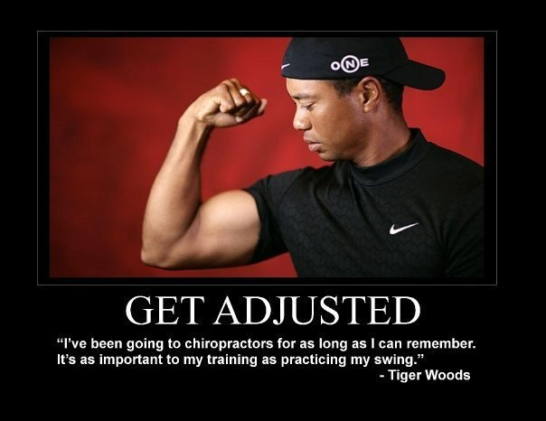 Tiger Woods - get adjusted